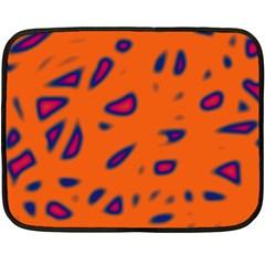 Orange neon Double Sided Fleece Blanket (Mini)