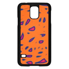 Orange neon Samsung Galaxy S5 Case (Black)