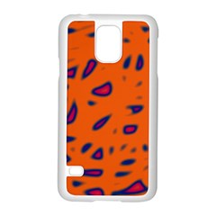 Orange neon Samsung Galaxy S5 Case (White)