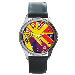 Hot abstraction Round Metal Watch
