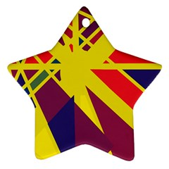 Hot abstraction Ornament (Star)