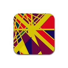Hot abstraction Rubber Coaster (Square)