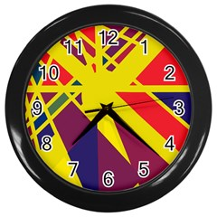 Hot abstraction Wall Clocks (Black)