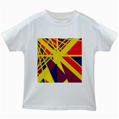 Hot abstraction Kids White T-Shirts