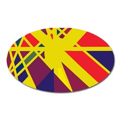Hot abstraction Oval Magnet