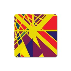 Hot abstraction Square Magnet