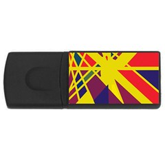 Hot abstraction USB Flash Drive Rectangular (1 GB)