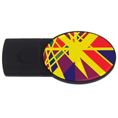 Hot abstraction USB Flash Drive Oval (4 GB)