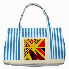 Hot abstraction Striped Blue Tote Bag
