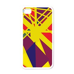 Hot abstraction Apple iPhone 4 Case (White)