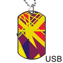 Hot abstraction Dog Tag USB Flash (One Side)