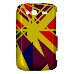 Hot abstraction HTC Wildfire S A510e Hardshell Case