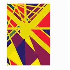 Hot abstraction Large Garden Flag (Two Sides)