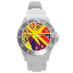 Hot abstraction Round Plastic Sport Watch (L)