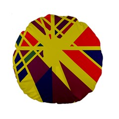 Hot abstraction Standard 15  Premium Round Cushions