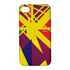 Hot abstraction Apple iPhone 4/4S Hardshell Case with Stand