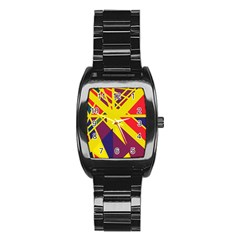 Hot abstraction Stainless Steel Barrel Watch