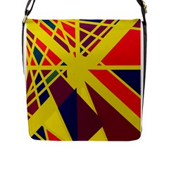 Hot abstraction Flap Messenger Bag (L)