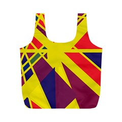 Hot abstraction Full Print Recycle Bags (M)