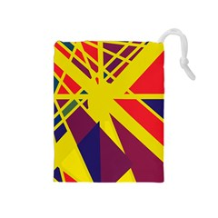 Hot abstraction Drawstring Pouches (Medium)