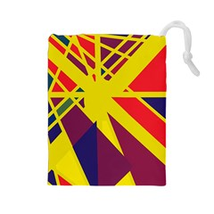 Hot abstraction Drawstring Pouches (Large)