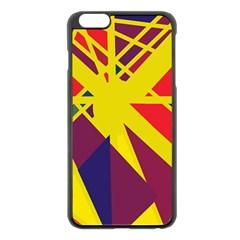 Hot abstraction Apple iPhone 6 Plus/6S Plus Black Enamel Case