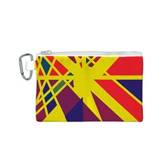 Hot abstraction Canvas Cosmetic Bag (S)