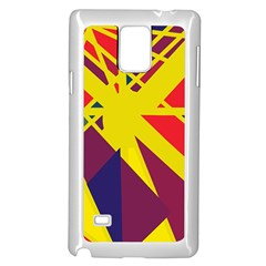 Hot abstraction Samsung Galaxy Note 4 Case (White)
