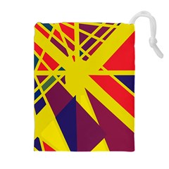 Hot abstraction Drawstring Pouches (Extra Large)