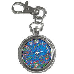 Colorful neon chaos Key Chain Watches