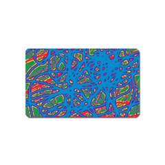 Colorful neon chaos Magnet (Name Card)