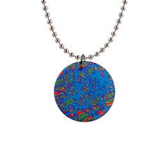 Colorful neon chaos Button Necklaces