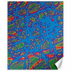 Colorful neon chaos Canvas 16  x 20