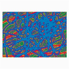 Colorful neon chaos Large Glasses Cloth