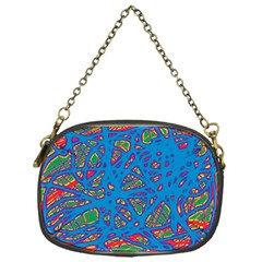 Colorful neon chaos Chain Purses (One Side)
