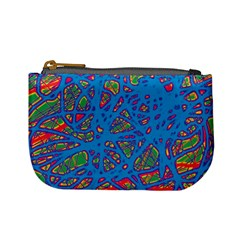 Colorful neon chaos Mini Coin Purses