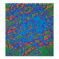 Colorful neon chaos Shower Curtain 66  x 72  (Large)