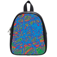 Colorful neon chaos School Bags (Small)