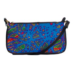 Colorful neon chaos Shoulder Clutch Bags