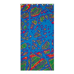 Colorful neon chaos Shower Curtain 36  x 72  (Stall)