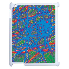 Colorful neon chaos Apple iPad 2 Case (White)