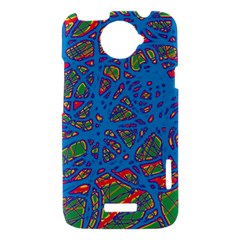 Colorful neon chaos HTC One X Hardshell Case