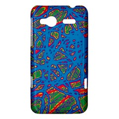 Colorful neon chaos HTC Radar Hardshell Case