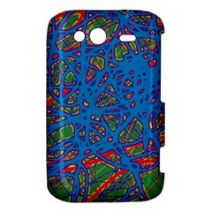 Colorful neon chaos HTC Wildfire S A510e Hardshell Case
