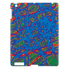 Colorful neon chaos Apple iPad 3/4 Hardshell Case