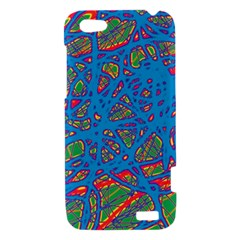 Colorful neon chaos HTC One V Hardshell Case