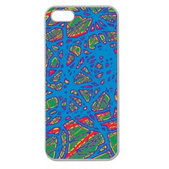 Colorful neon chaos Apple Seamless iPhone 5 Case (Clear)