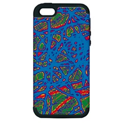 Colorful neon chaos Apple iPhone 5 Hardshell Case (PC+Silicone)
