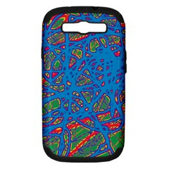 Colorful neon chaos Samsung Galaxy S III Hardshell Case (PC+Silicone)