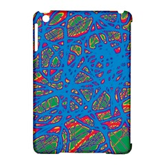 Colorful neon chaos Apple iPad Mini Hardshell Case (Compatible with Smart Cover)